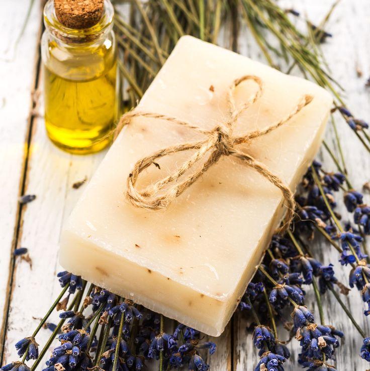 Homemade Lavender Soap Bar