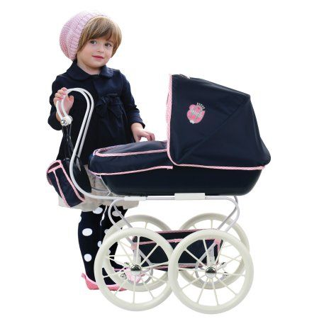 Hauck Classic Navy Toy Doll Pram Stroller Image 2 of 5