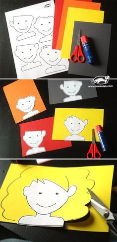 Create Your Own Hair! Fun cutting project for kids.