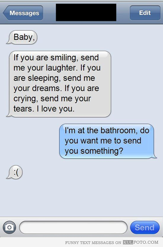 Interesting text messages to send to a guy
