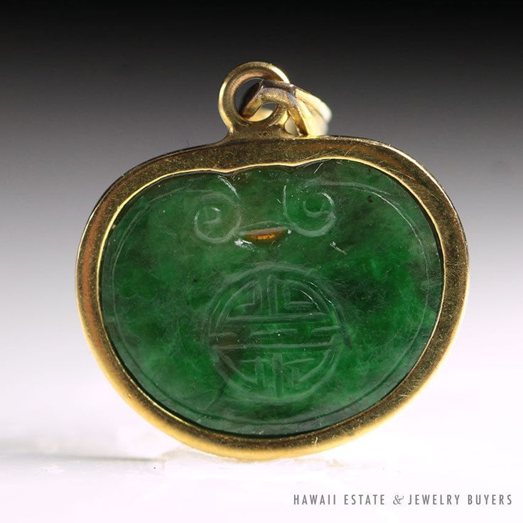 638 best antique jade jewelry images on pinterest jade jewelry vintage green chinese jade kidney pendant 14k yellow gold nr jewelry aloadofball Gallery
