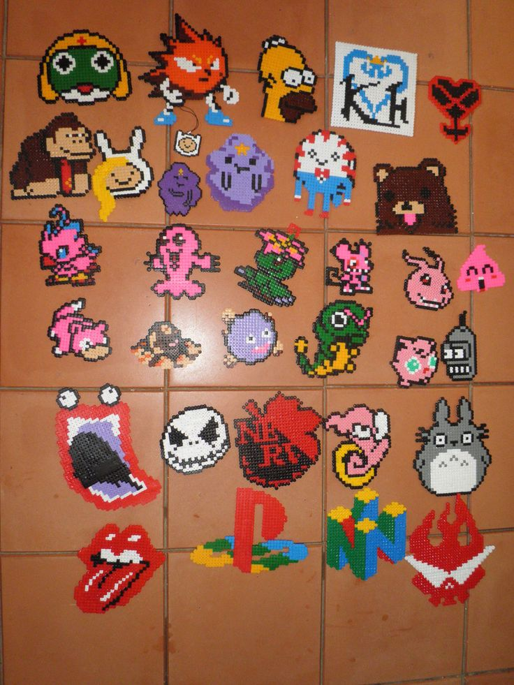 Hama Beads and Pyssla by CaptainAO on deviantart