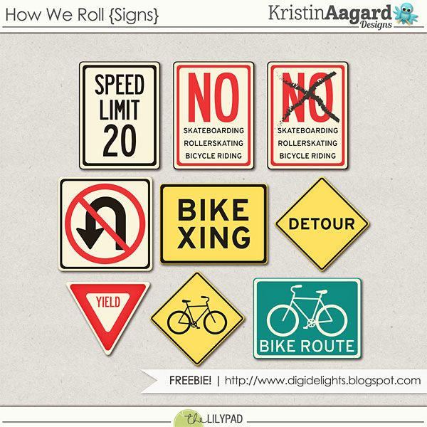 Quality DigiScrap Freebies: How We Roll digital scrapbook freebie from Kristin Aagard Designs