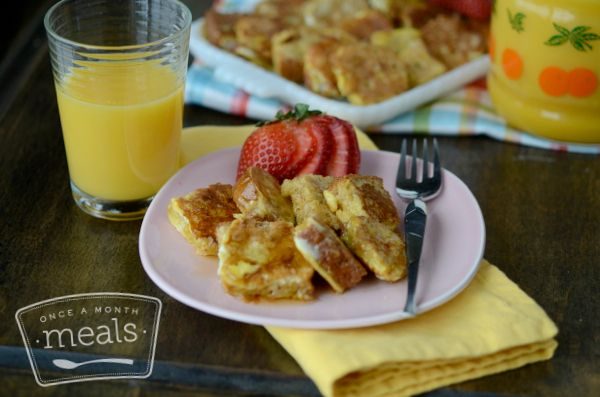 French Toast Squares...or could make these into french toast sticks....can be made and frozen to be reheated later! ETA: Need to make 50% more egg mixture. It was gone after 4 pieces of bread...