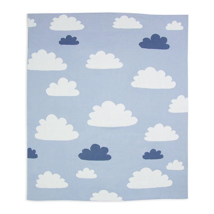 Cotton Knitted Blanket - Sky High Blue