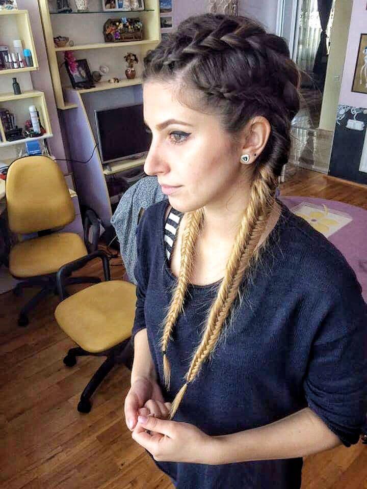 #braids#fishtail#longhair#ombre