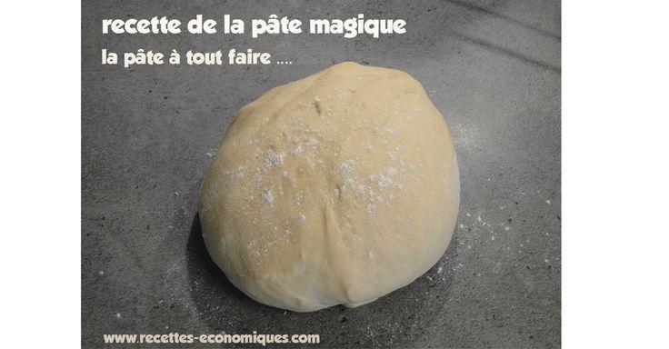 La recette de la pate magique en grammes à faire avec le thermomix ou à la main. Une recette facile, pratique et avec cette pâte on peut tout faire ou presque.