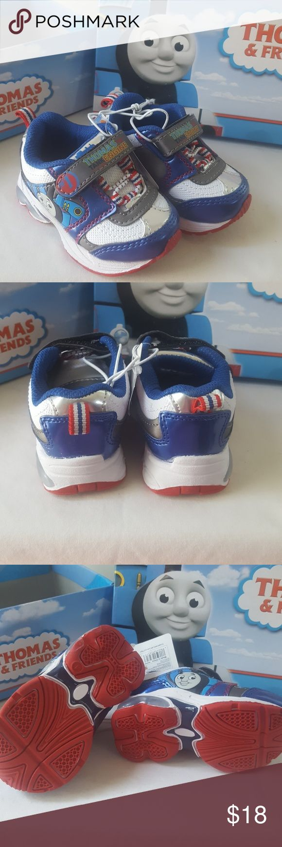 Thomas the Train Sneakers Every boys favortie train!!! Toddler boys velcro Thomas the Train LIGHT UP Sneakers!!! Make his day so that he can have Thomas with him everywhere he goes!!!! Shoes Sneakers
