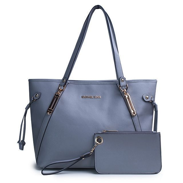 8acb9c02be ... reduced michael kors jet set saffiano logo small grey totes are high  quality and cheap price