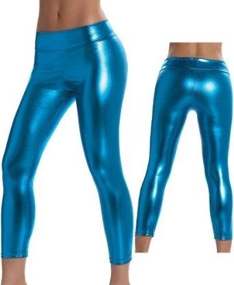 Amazon.com: Sexy Electric Blue Metallic Leggings: Clothing - StyleSays