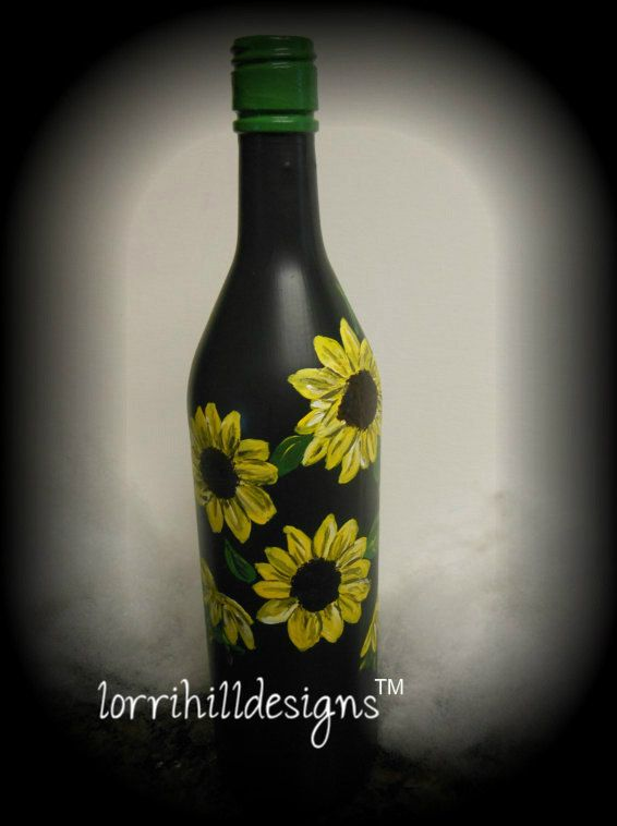 17 best images about hand painted glass bottles on for Hand painted bottles