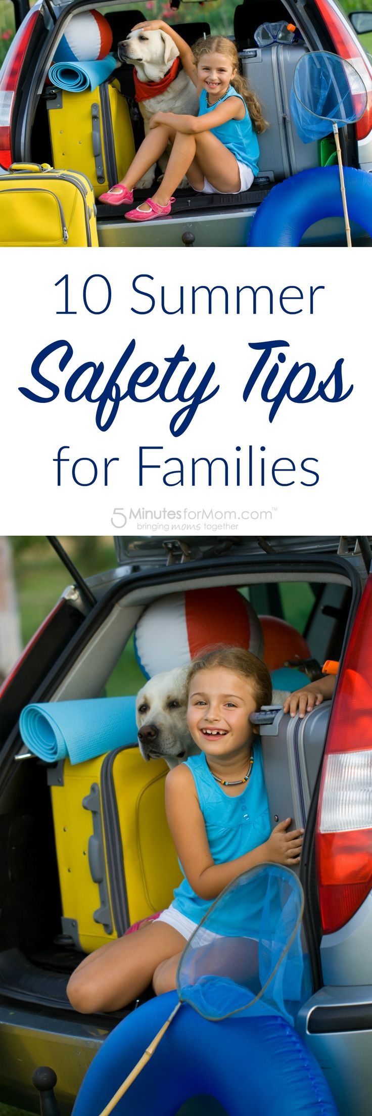 10 Summer Safety Tips for Families - You to have the best summer ever, so follow these 10 summer safety tips to help keep you, your family, your home and your belongings safe and secure. Sponsored.