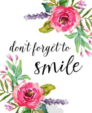 No se olvide de sonreír