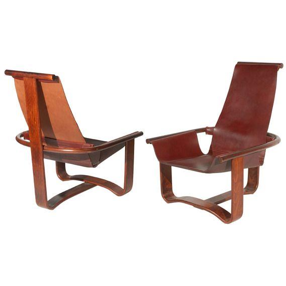 Westnofa / Vestlandske Bentwood and Leather Chairs