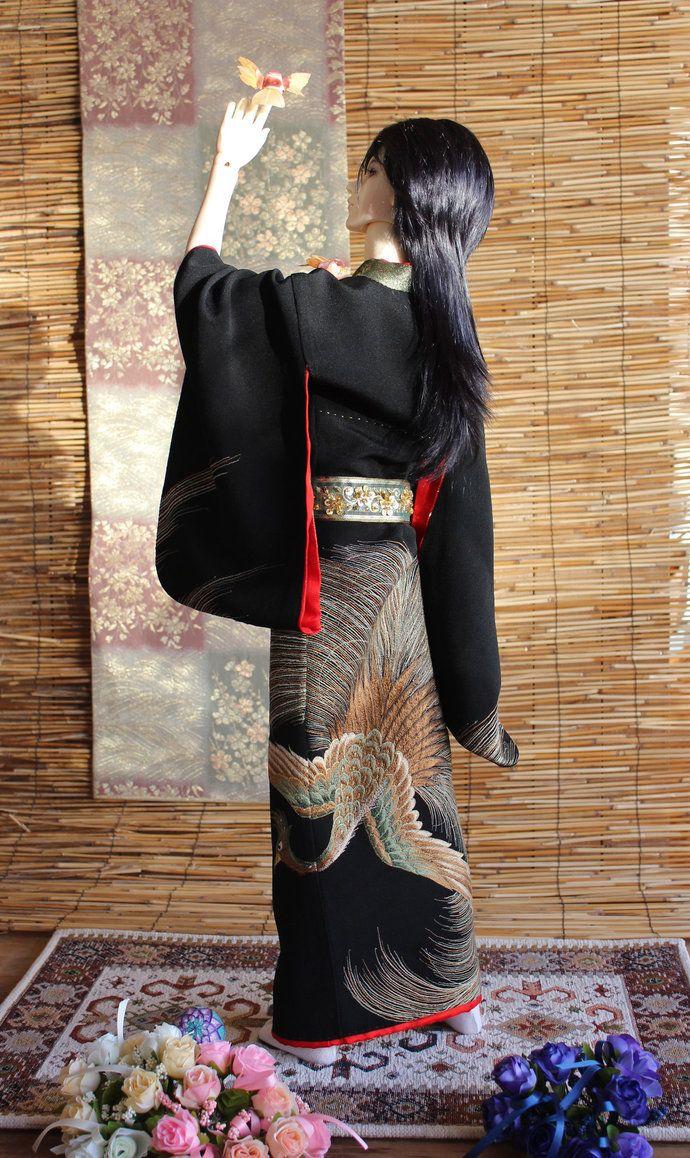 BJD kimono, Fly Little Birdy by InarisansCrafts