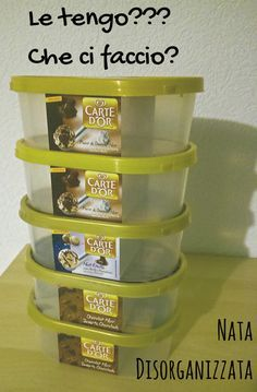 scatole del gelato