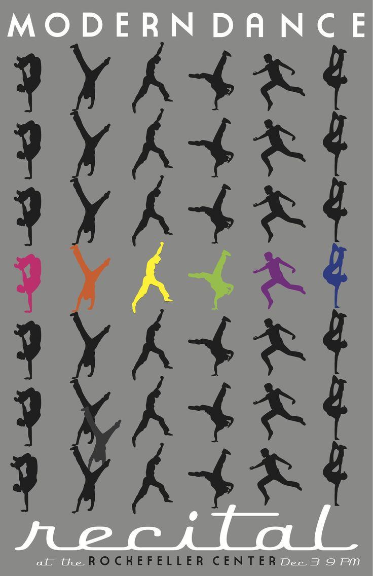 11x17 poster design - Modern Dance Poster
