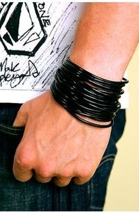 I had tons of these o-ring bracelets! The object was to wear as many as possible at one time. I found some of them not long ago and they had all disintegrated. >>>