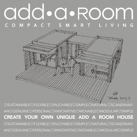 CREATE YOUR OWN UNIQUE HOUSE By using, the Danish top architect Lars Frank Nielsen's ONE+ modules from Add a Room, you become your own architect... http://addaroom.dk/…/create-your-own-unique-add-a-room-house