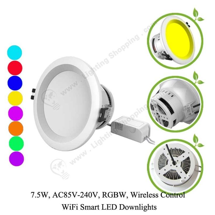 RGBW Wifi LED Downlights 7.5W - Details More details at >>> http://www.lightingshopping.com/rgbw-wifi-led-downlights-7-5w.html