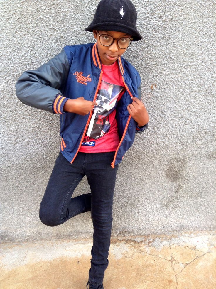 #KidFresh is #Streetstylin in a baseball jacket with a printed T-shirt, skinny jeans and high-top sneakers. He wore it with a bucket hat and nerd glasses. How would you have accessorised it?
