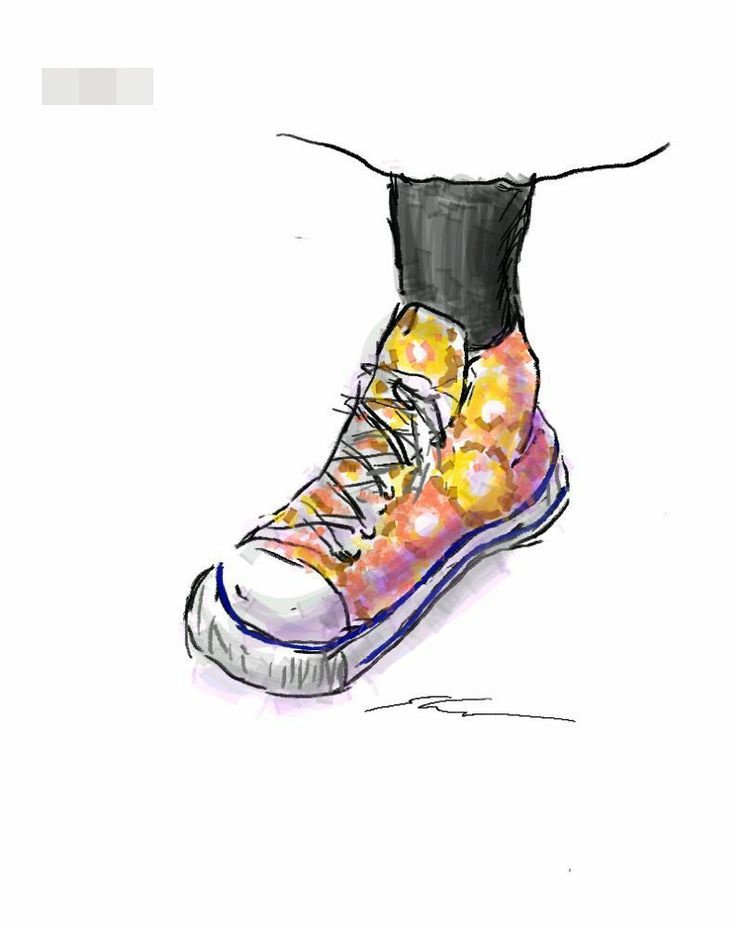 It is a sketch of the Converse of floral design.  I drew while commuting on a train with the GALAXY Note.