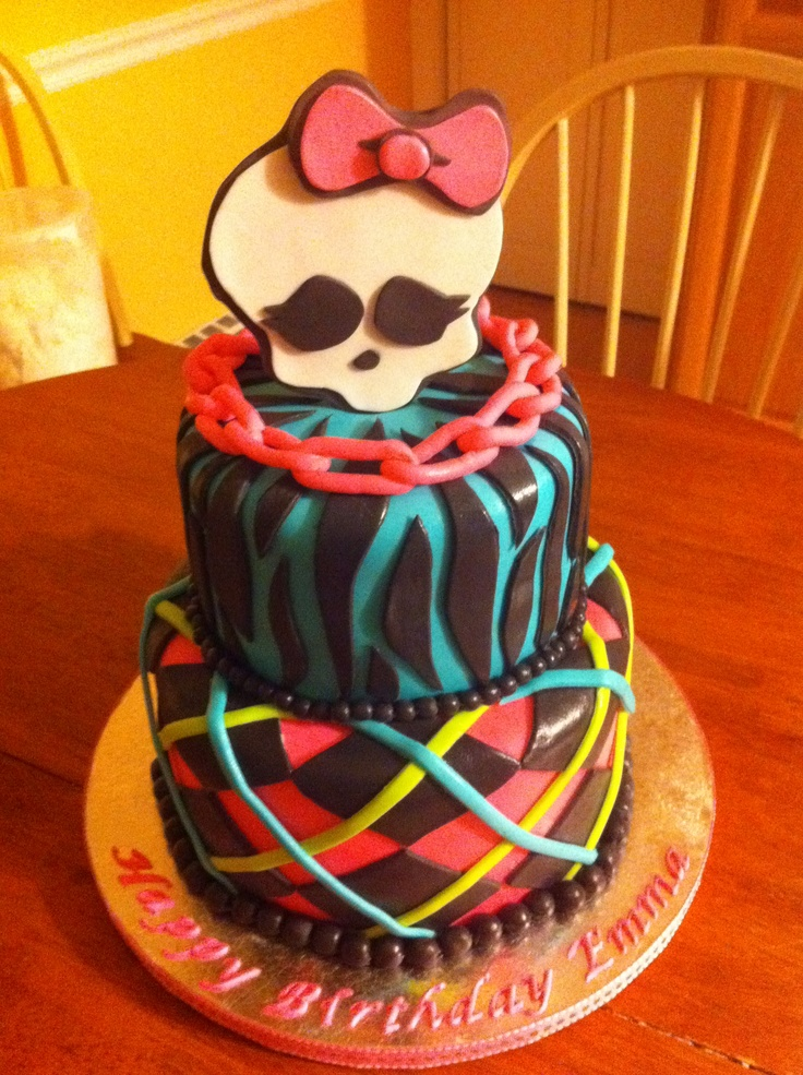 2 Tier Monster High Cake Cakes For Cake Quake