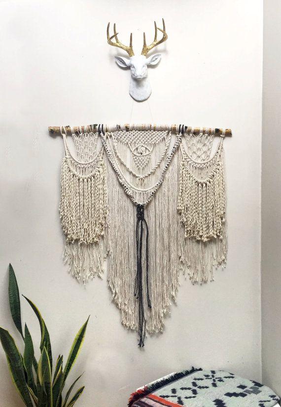 Extra Large Macrame Wall Hanging Curtain Modern Bohemian