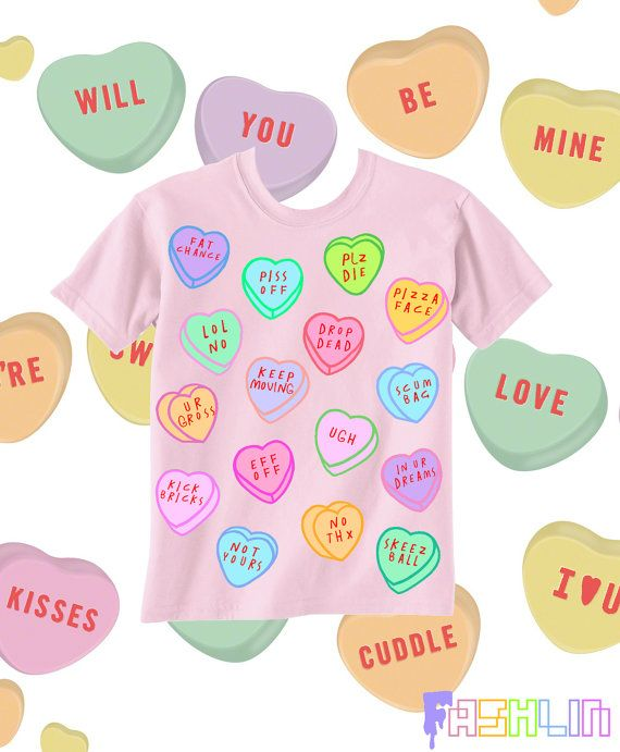 Insult Heart Candy Rude Kawaii Tshirt Pastel By Fashlindotcom
