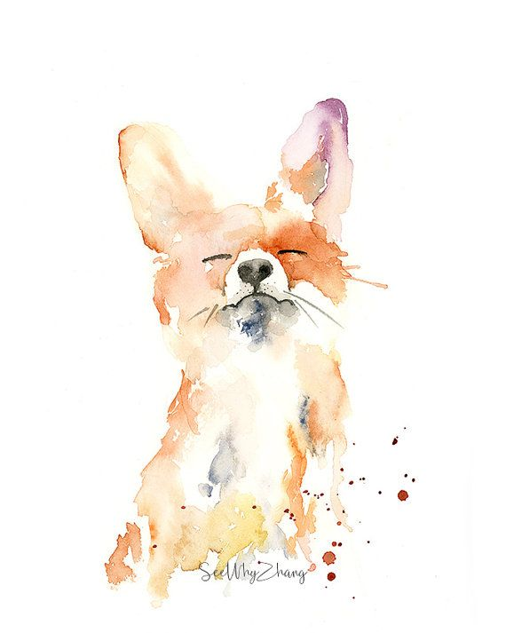 Proud Fox, an unframed art print based on my original watercolor painting of a playful fox in my loose, impressionistic watercolor style. Fine art quality prints are printed with Epson archival ink on 330gsm hot press bright cotton rag (thick and luxurious to the touch).  Sizes (inches): 8x10 11x14 12x16 16x20  Any seewhyzhang watermark in product photos will not appear on the final print.  Shipping: Art prints sized 11x14 and below will be packaged in a clear cello sleeve, backed by a 22pt…