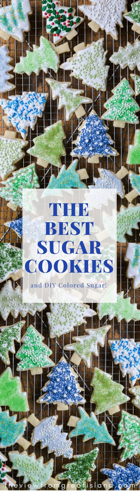 These quick and easy Holiday Sugar Cookies are such fun to decorate, and a joy to give out to friends and family this season. I show you how to make your own diy colored sugar, too, so you can get as creative as you wish! ♛BOUTIQUE CHIC♛