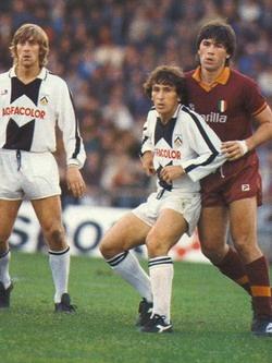 Zico (Udinese), Ancellotti (Roma).  Both are football coaches nowadays.