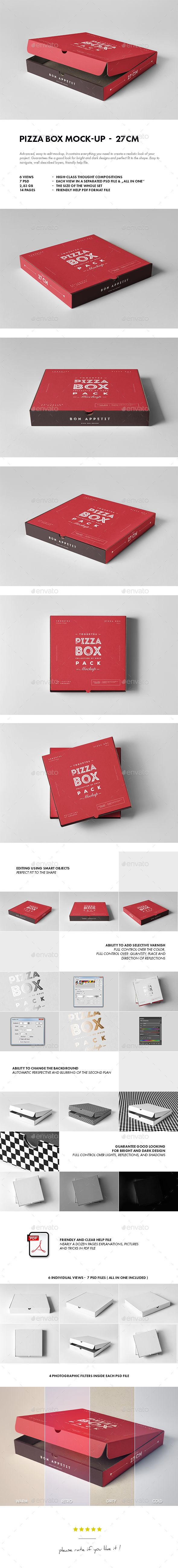 27 Pizza Box Mockup — Photoshop PSD #cardboard #packing • Download ➝ https://graphicriver.net/item/27-pizza-box-mockup/19513253?ref=pxcr