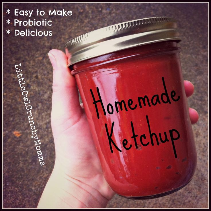 Homemade Ketchup (Simple, Delicious AND Probiotic!) ** via LittleOwlCrunchyMomma