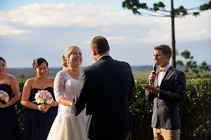 A radiant couple and good times in this Byron Bay wedding ceremony. Pic Richard Windeyer. Byron Bay Wedding Celebrant.