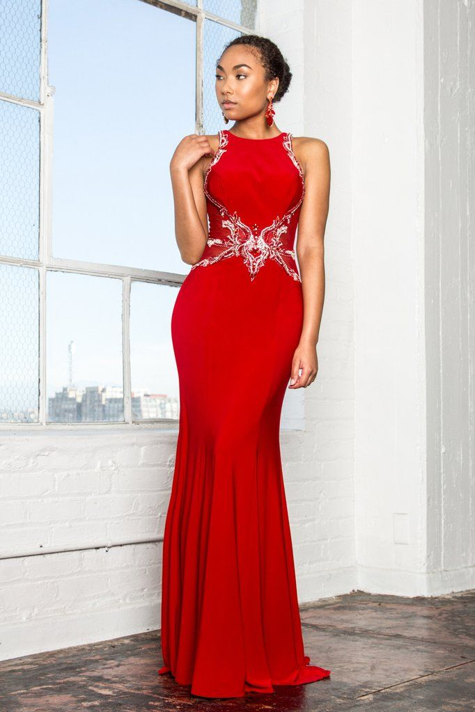 74184eb21158 Long red formal dress gls 1357 in 2019 | Simply Fab Dress-sexy evening gowns  | Formal dresses, Dresses, Prom dresses