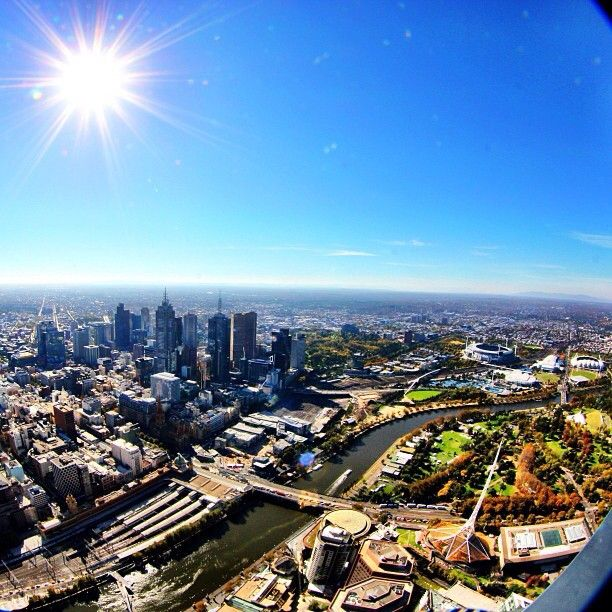 View from Eureka Skydeck, Melbourne #Australia