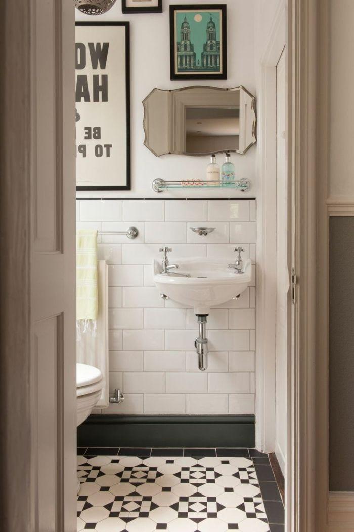 Les 25 meilleures id es de la cat gorie lavabos de salle for Salle de bains retro