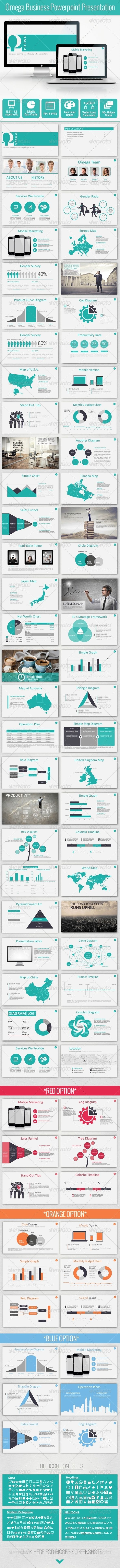 Omega Bussiness Powerpoint Template (Powerpoint Templates)  #Powerpoint #Powerpoint_Template #Presentation