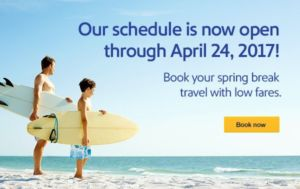 Southwest Airlines Schedule Extended Past Spring Break