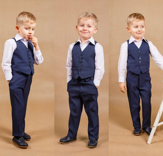 Ring bearer outfit Boy wedding suit Baby by WhiteBridalBoutique