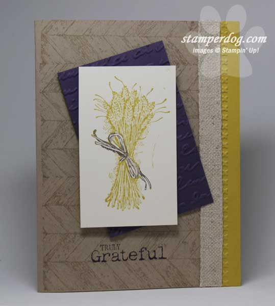 Stampin up truly grateful thanksgiving from old to new stampin up