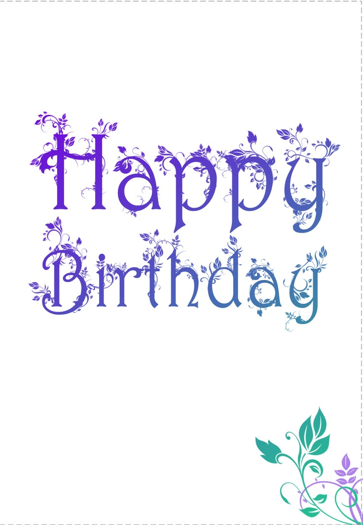 138 best images about Birthday Cards – Printable Birthday Card