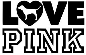 Download Victoria's Secret LOVE PINK Heart Dog Car/ Laptop/ Wall ...