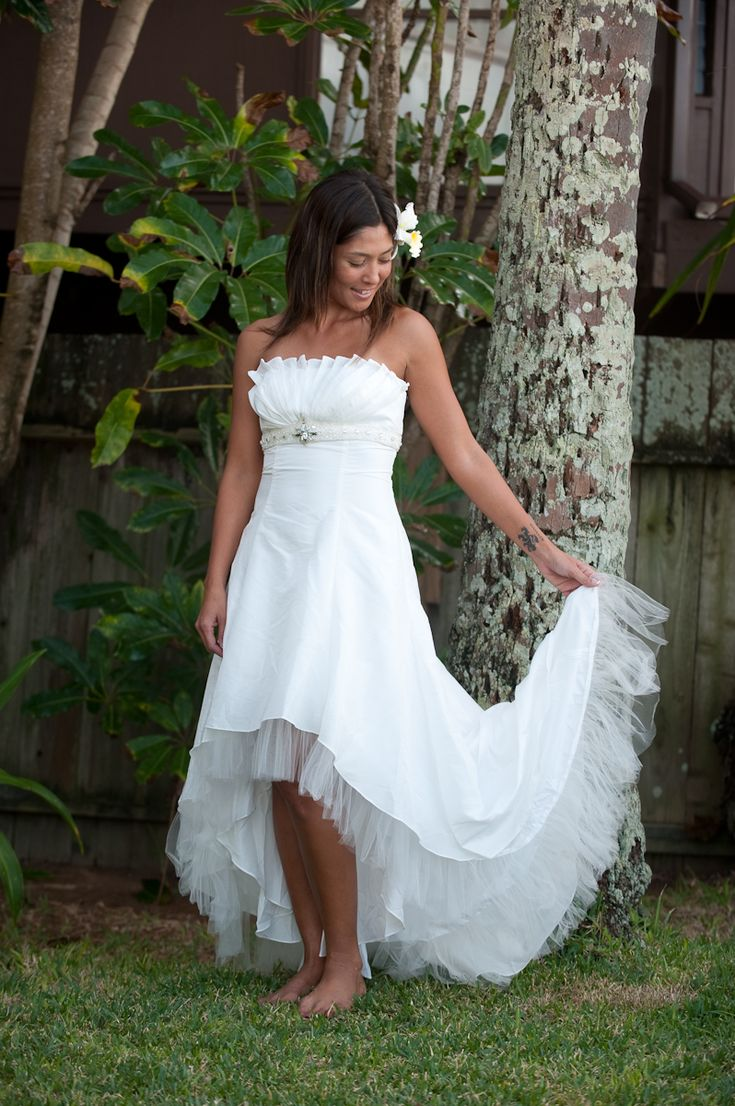 Image Gallery Hawaiian Beach Wedding Dresses