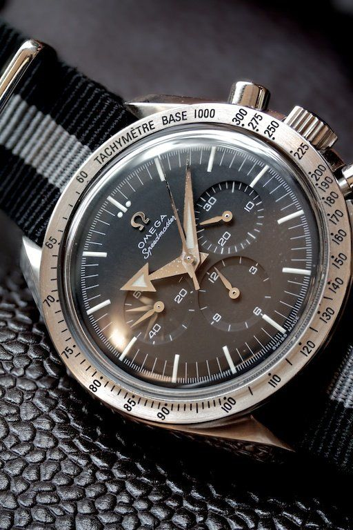 Omega Speedmaster Broad Arrow Chronograph on NATO strap