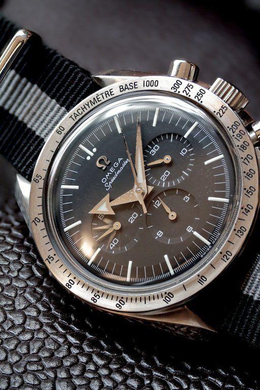 Omega Speedmaster Broad Arrow Chronograph on NATO strap