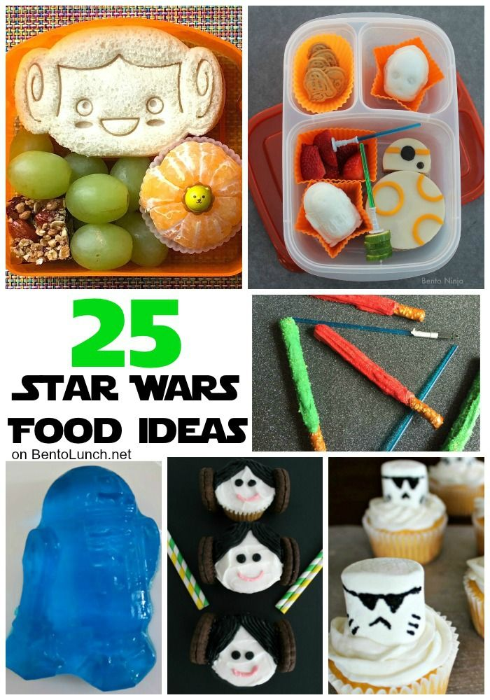 BentoLunch.net - What's for lunch at our house: 25+ Fun Food Ideas for Star Wars Day