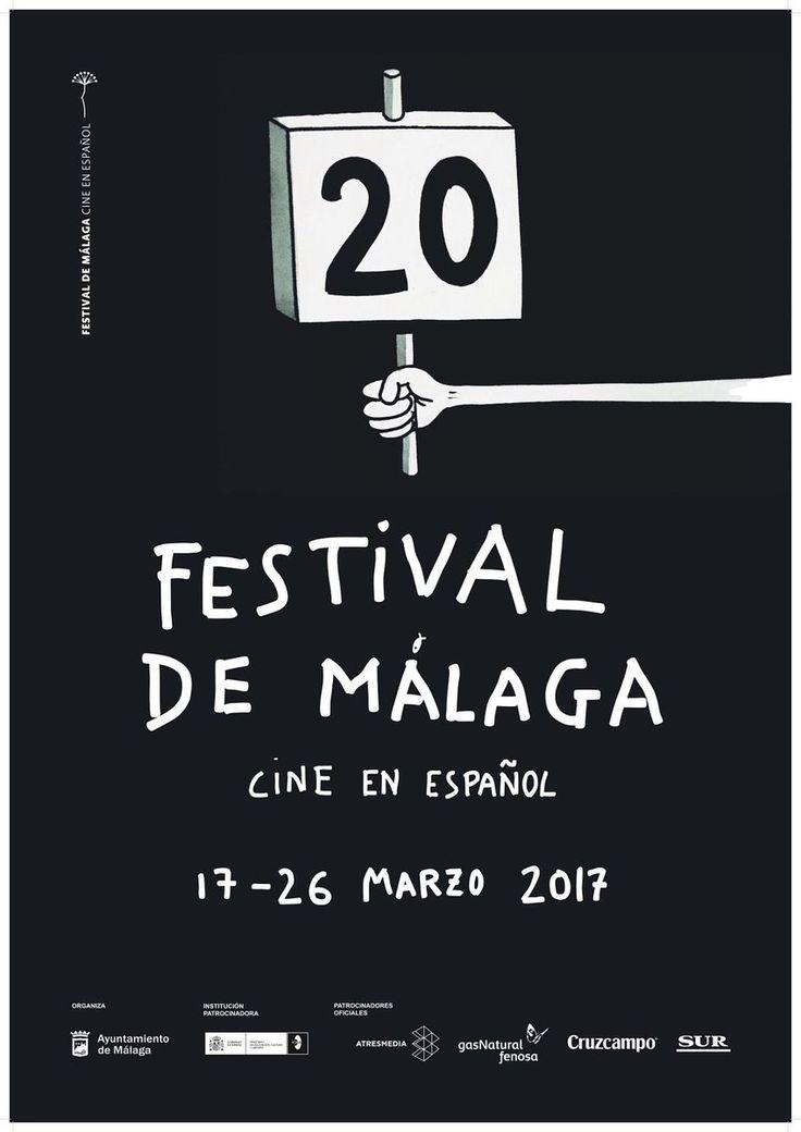 Cartel Festival Cine Malaga 2017. Autor: Javier Calleja