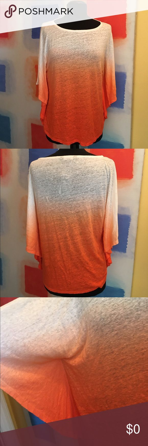 🆕 Ralph Lauren Batwing Ombré Linen Top NWT Ombré color. Beautiful cut. Sleeves fall just below the elbows. Relaxed look. Very chic.  100% very soft linen. Petite sizing. I have this in Medium & Large. MSRP $80. Ralph Lauren Tops Blouses